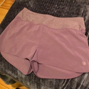 MPG purple running athletic shorts small women's